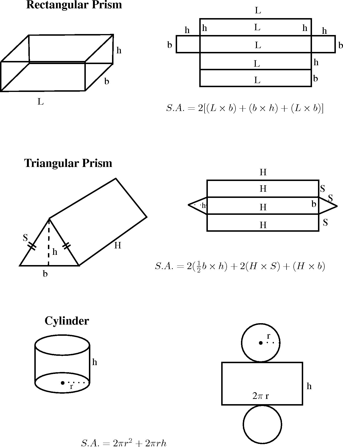 In Pairs, Study The Following Prisms And The Adjacent Image Showing The  Various Surfaces That Make Up The Prism Explain To Your Partner, How Each  Relates