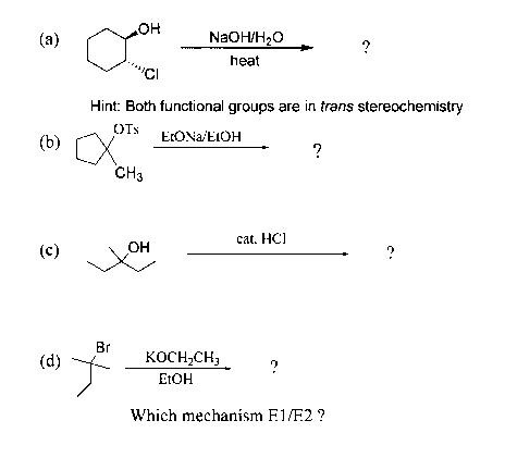 dehydrohalogenation of 2 bromobutane