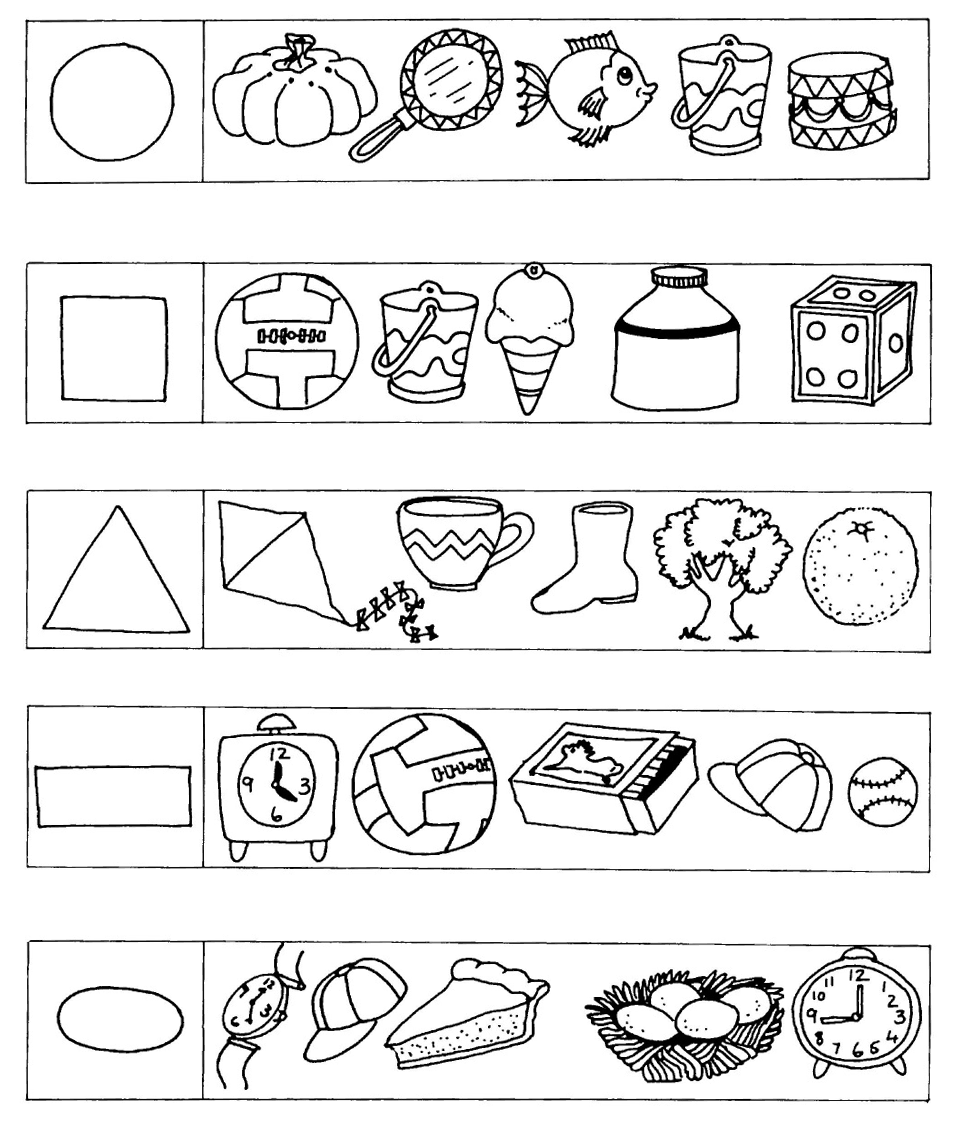 Workbooks visual discrimination worksheets : Gr. R Module 3 Numeracy - 05