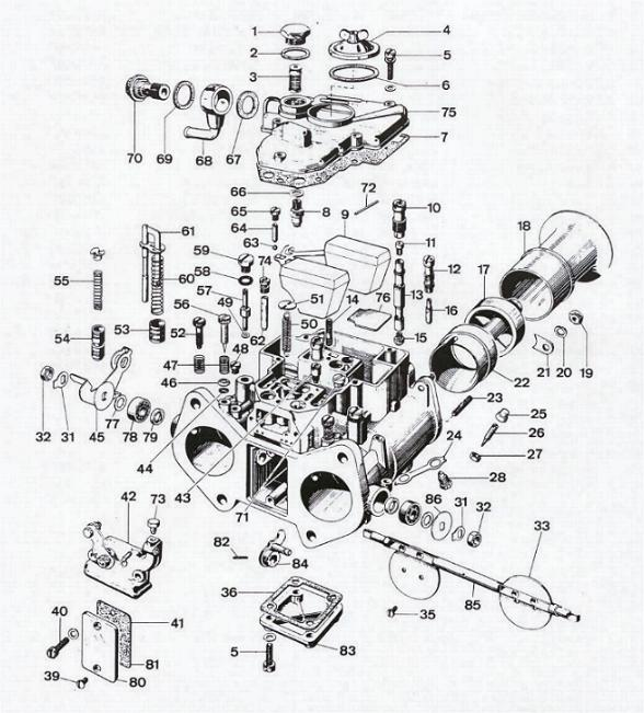 2100 Carburetor Exploded View