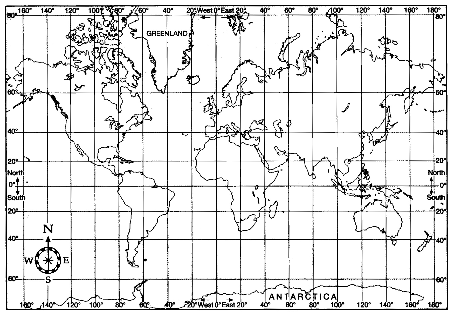 Map United States Latitude Longitude Boaytk Longitude And North - Map with latitude and longitude represented as parallel