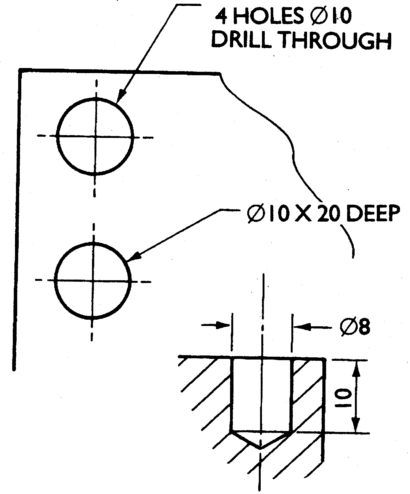 Orthographic projections in drawings position of holes biocorpaavc Gallery