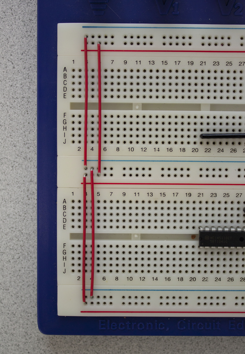 Msp430 Launchpad Test Circuit Breadboarding Instructions On Breadboard Notice How The Orange And Red Wires In Your Kits Are Sized To Exactly Bridge Respective Gaps