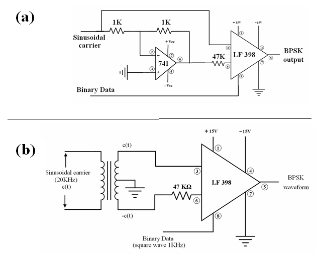 bpsk circuit diagram