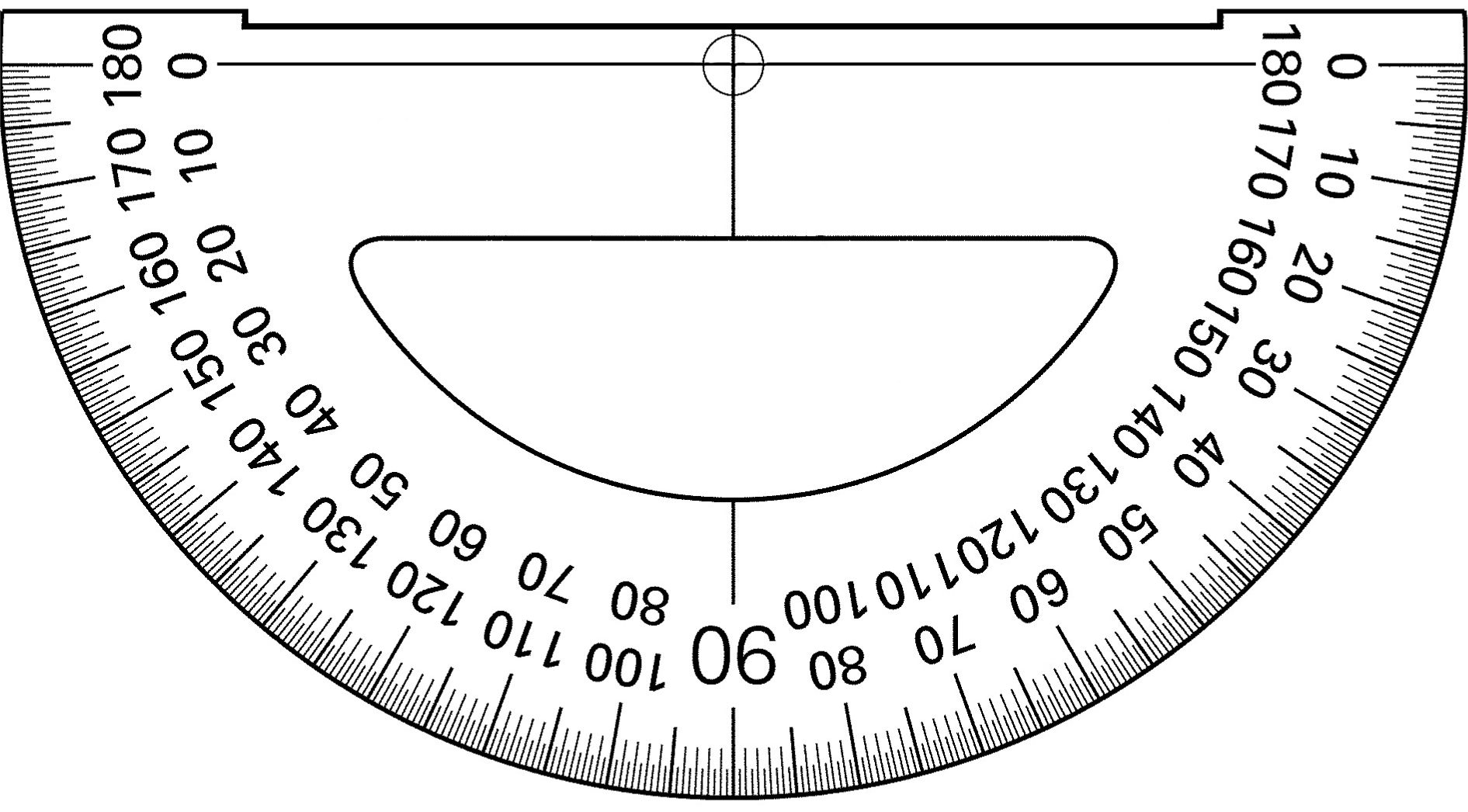 worksheet Protractor Print printable protractors pictures of a protractor multiplication modern measuring instuments graphics3 protractors