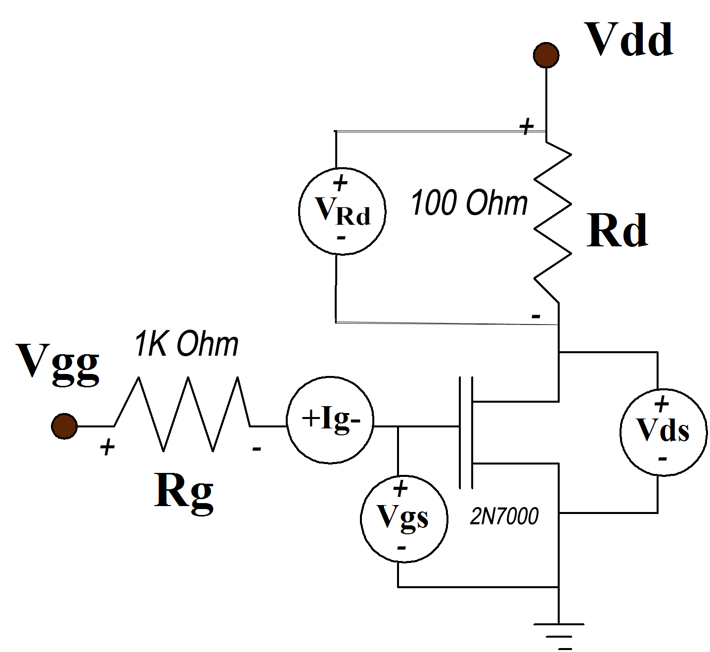 Design Of An In Vivo Radiation Measurement Scheme Using A Reliable Mosfet Circuits Tutorial Cmos Model Generation And Labview The Purpose Characterization Is To Obtain Device Operating Curves Accurately Estimate Transistor Parameters