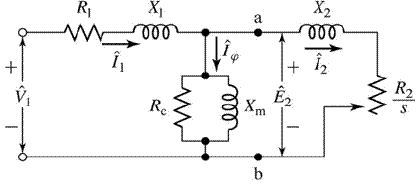 figure 6 4 single-phase equivalent circuit for a polyphase induction motor