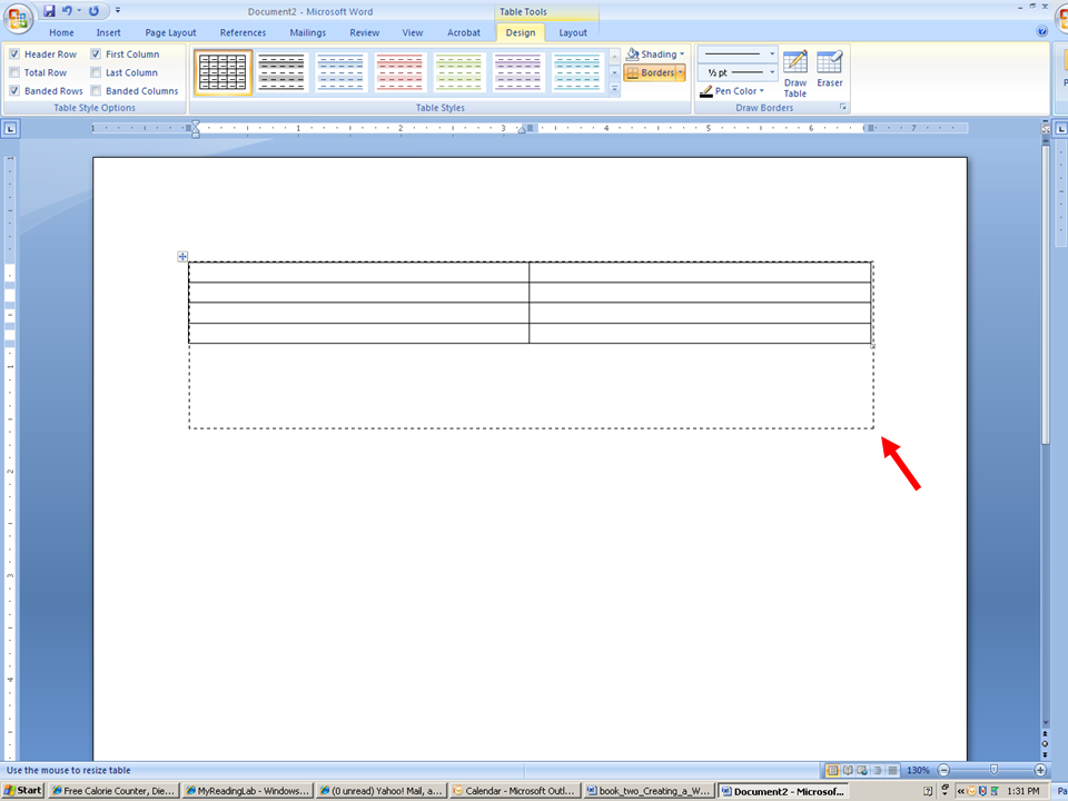Creating a Table in Word 2007 Word Version – How to Make a Chart in Word