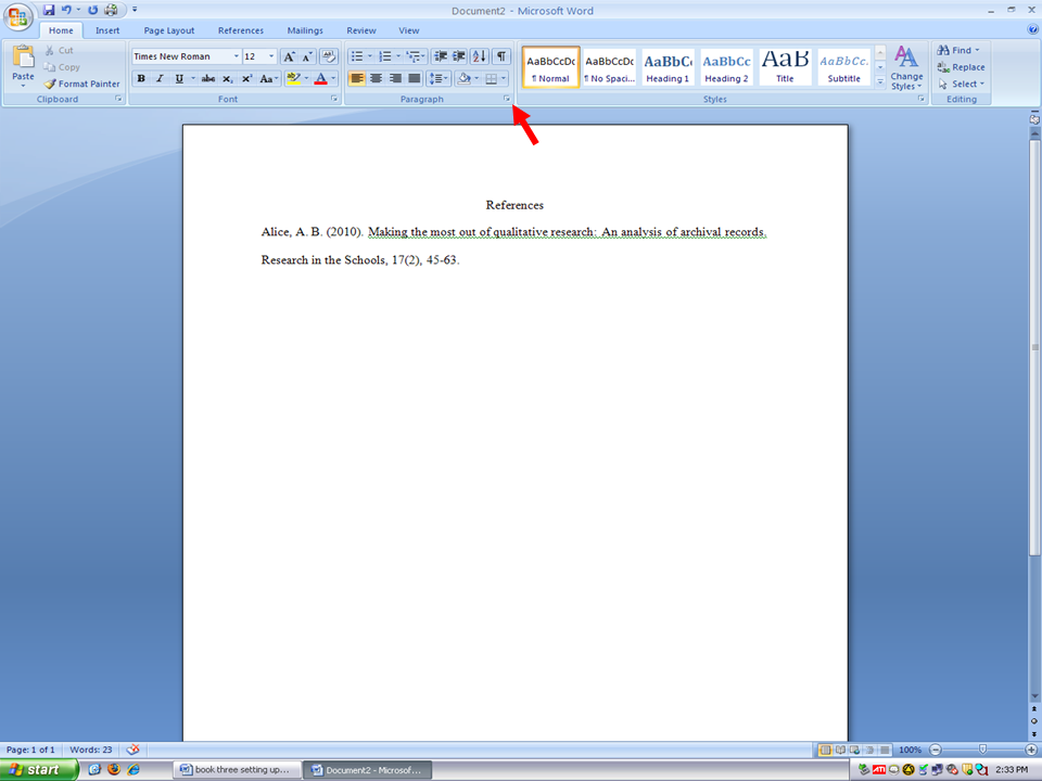 What does double space for paragraphs mean?