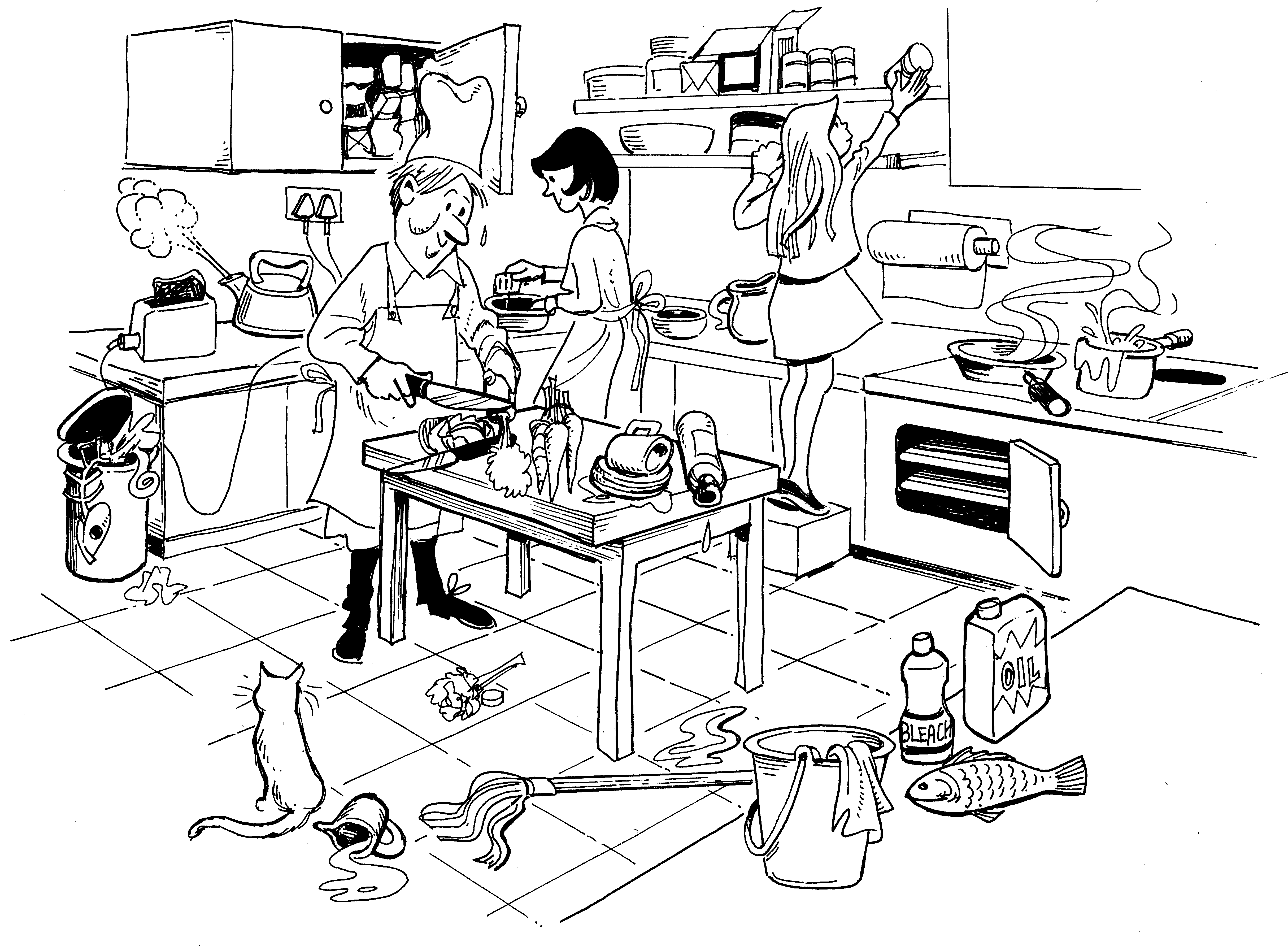 Safety and first aid in the kitchen